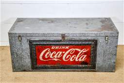 Industrial Metal Trunk Advertising CocaCola 20 12H