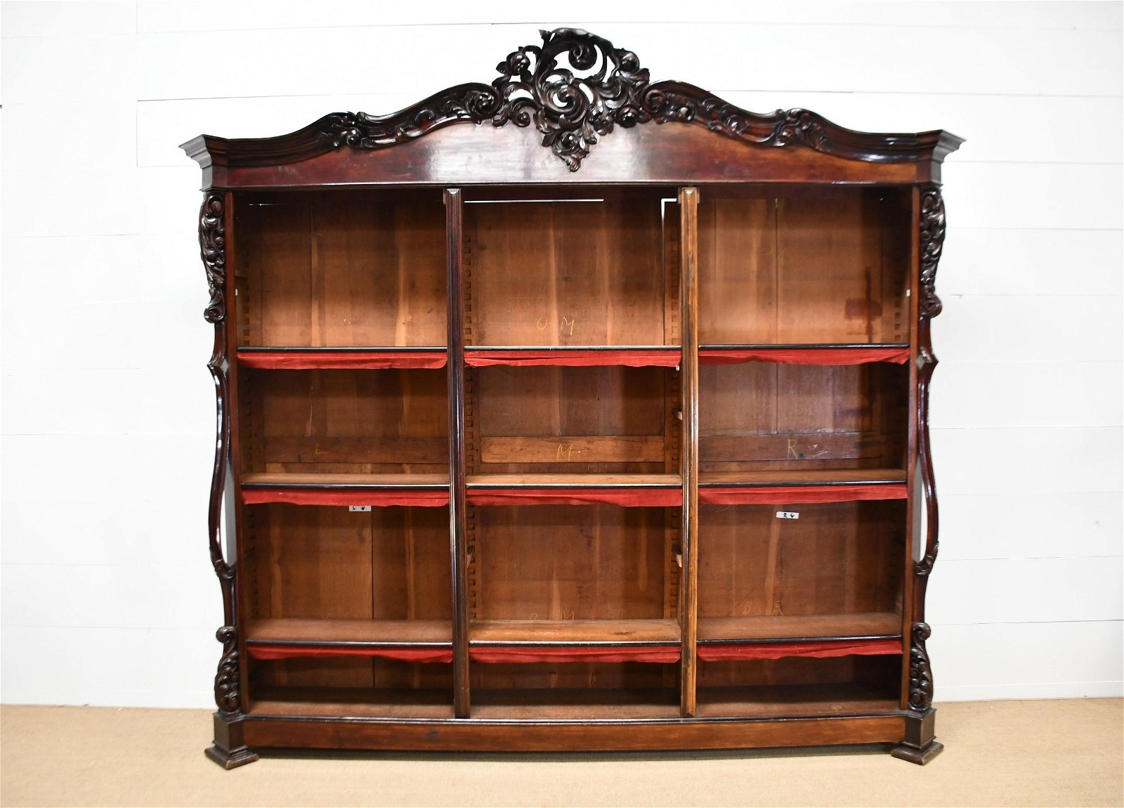 """French Jewelry Store Display Cabinet 107""""H,   116""""  x"""