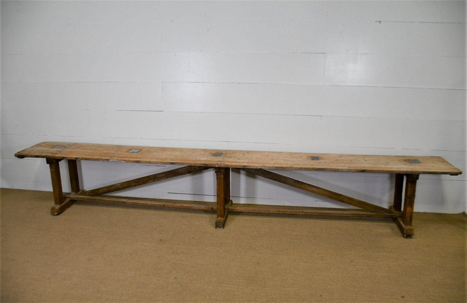 "French Display Table 24""H,   158""  x   18 1/2"" (21 1/2"""