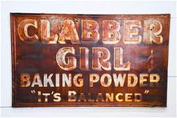 """Clabber Girl Baking Powder Sign - metal 36"""" x 60"""""""