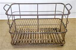 """French Industrial Baguette Cart 27""""H,   41""""  x   20"""