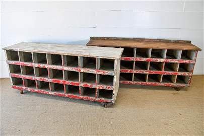 """2pc. Lot of General Store Cubby Units 31""""H,   67""""  x"""