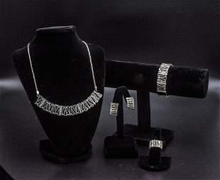Sterling Silver and 18K Gold Set necklace  /  bracelet