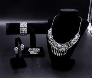 Sterling Silver Set necklace  /  bracelet  /  earrings