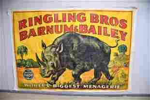 "Ringling Bros Barnum & Bailey Circus Banner 83 1/2""  x"