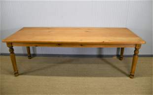 "French Pine Farm Table 30 1/2""H,   95 1/2""  x   36 1/2"""