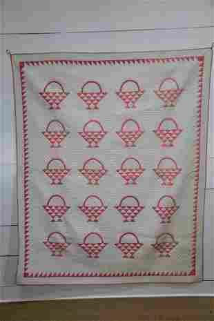 """Flower Basket Quilt 83 1/2""""  x   68"""""""