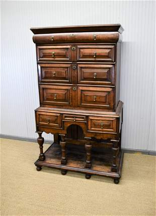 17th C. William & Mary Chest of Drawers on Stand 70
