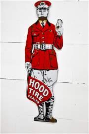 """Hood Tire Dealer Sign   -   porcelain 35 1/2""""  x   10"""""""