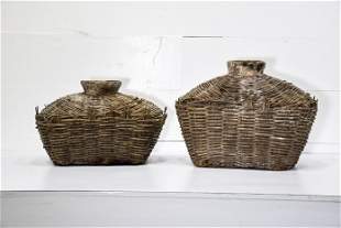 """2pc. Lot of Early Fish Gathering Baskets 16""""H, 23"""" x"""