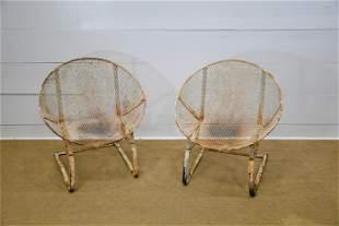 "Pair of Metal Salterini Lawn Chairs 33 3/4""H, 30 1/2"""