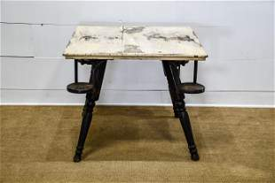 """Painted Pub Table 30""""H, 36 1/2"""" x 36"""""""