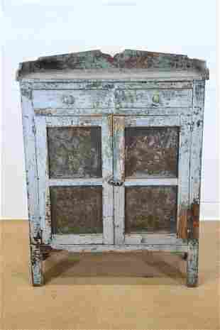 """Midwestern Painted 4 Tin Pie Safe 51 1/2""""H, 39"""" x"""