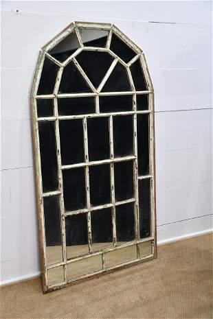 "Industrial Iron Window Frame Mirror 62"" x 34"""