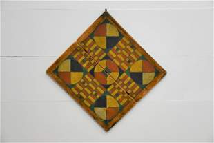 """Early Fold Up Parcheesi Game Board 21 1/2"""" x 22"""""""