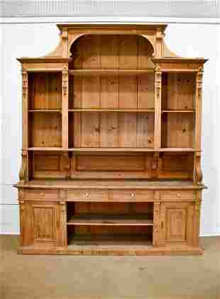 """French 2pc. Store Display Cupboard 110""""H, 91"""" x"""