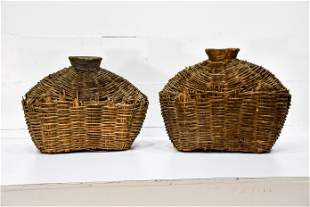 """2pc. Lot of Early Fish Gathering Baskets 19""""H, 24"""" x"""