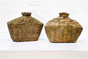 """2pc. Lot of Early Fish Gathering Baskets 20""""H, 24"""" x"""