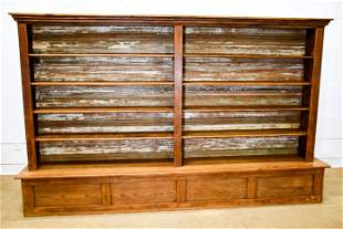 Texas Pine General Store Two Piece Display Shelf From