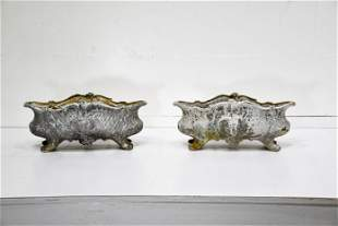 """2pc. Lot of French Cast Iron Garden Urns 8 1/2""""H, 19"""