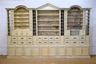 Early 19th C. French Pharmacy Cabinet 4 pieces /