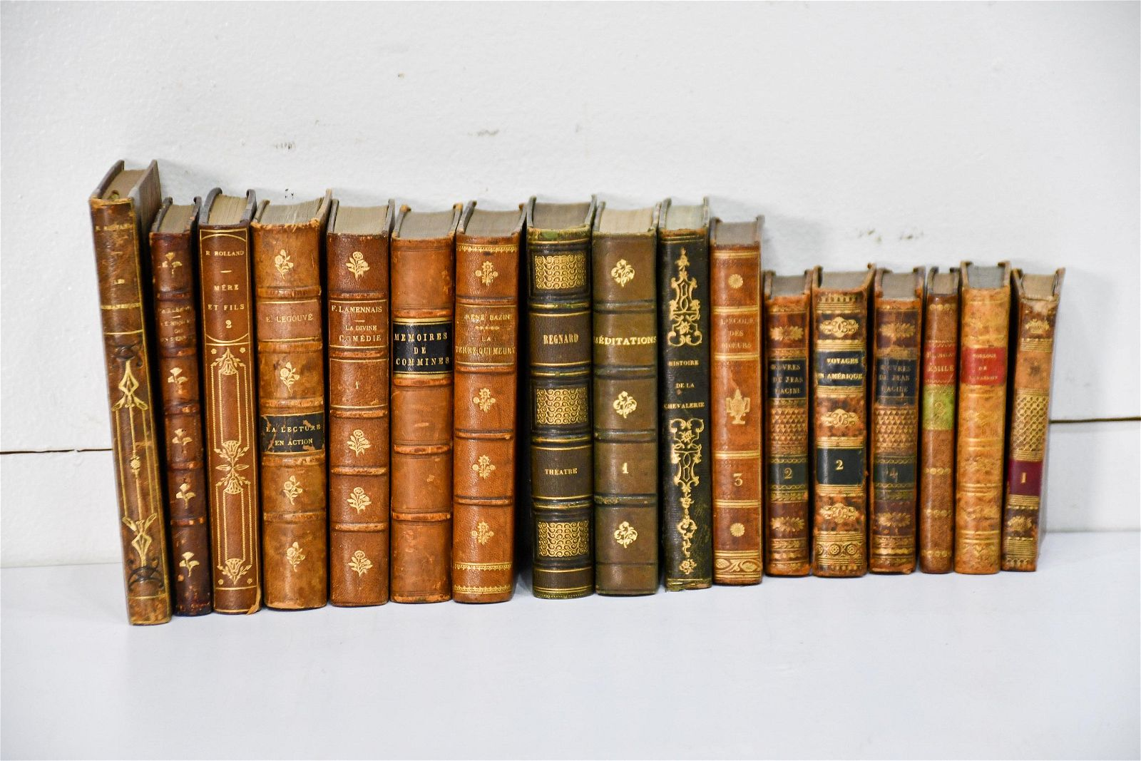 Group Lot of Leather Bound Books