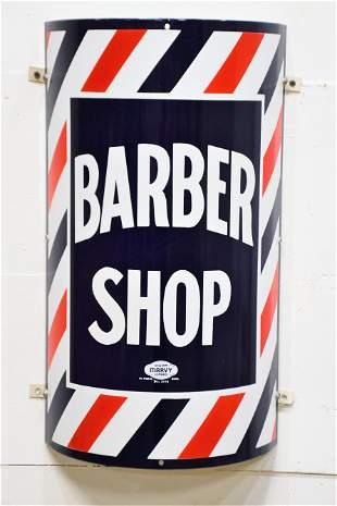 """Barber Shop Sign - porcelain 24"""" x 13"""""""