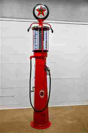 "Restored Fry Visible Gas Pump Advertising Texaco 121""H,"