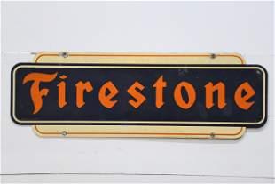 """Firestone Sign - metal 16"""" x 47"""""""