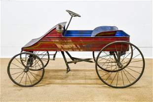 """Early Child's Pedal Car 21""""H, 41"""" x 20"""""""