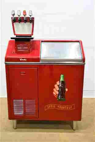 """Vendo Coca - Cola Fountain Drink Machine 68""""H, 31"""" x"""