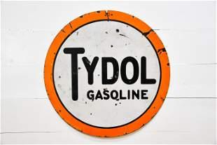 "DSP Tydol Gasoline Dealer Sign 42"" diam."