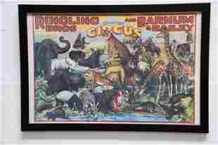 """Ringling Bros and Barnum & Bailey Circus Poster 26"""" x"""