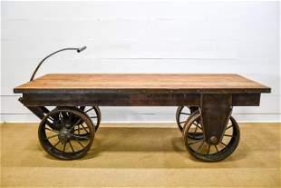 "Large Industrial Warehouse Work Wagon 34""H(wagon),"