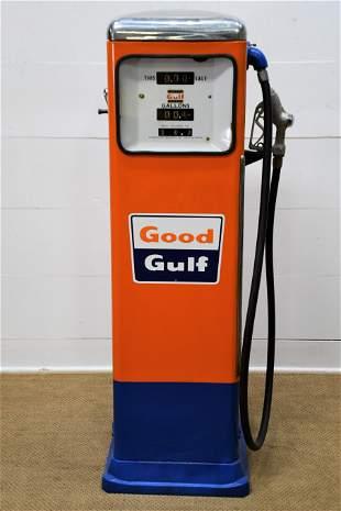 Restored Gulf Gas Pump with plastic window / *lights