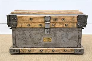 "Vanderman Wood and Metal Strong Box 15""H, 27"" x"
