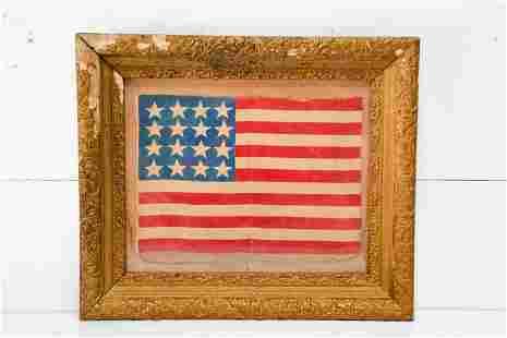 """US Flag - 16 Star - in frame 26"""" x 22"""""""
