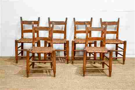 """6pc. Lot of Cane Bottom Mule Ear Chairs 32""""H, 17"""" x"""