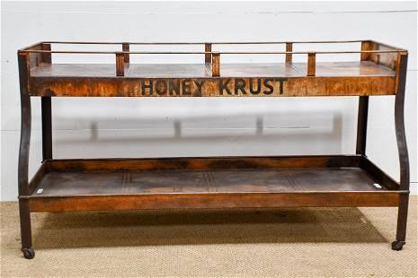 """Honey Krust Bakery Store Display Rack 32""""H, 60"""" x"""