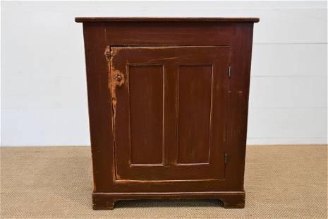 "Pa. Painted One Door Cupboard 45""H, 38"" x 17"""