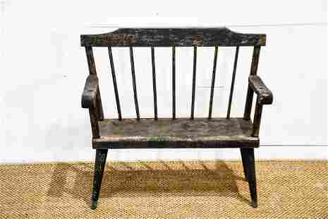 """Pa. Amish Child's Settee 27""""H, 29"""" x 13"""""""