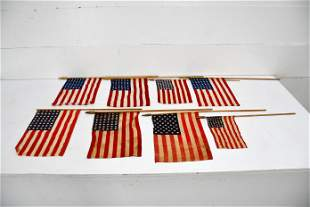 8pc. Lot of USA Parade Flags