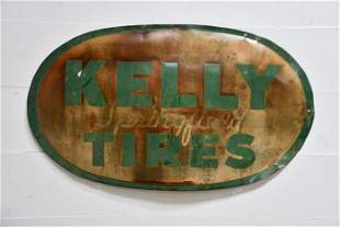 """Kelly Springfield Tires Sign - metal 30"""" x 50"""""""