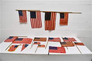 16pc. Lot of USA Parade Flags