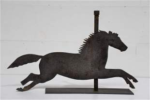"Metal Running Horse Weathervane 21""H, 33"" x 5"""