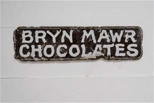 """Bryn Mawr Chocolates Sign - porcelain 8"""" x 29 1/2"""""""