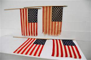 4pc. Lot of USA Parade Flags