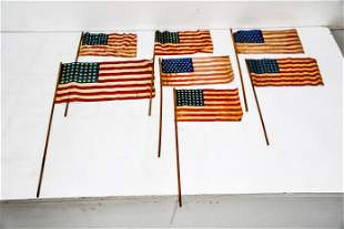 7pc. Lot of USA Parade Flags