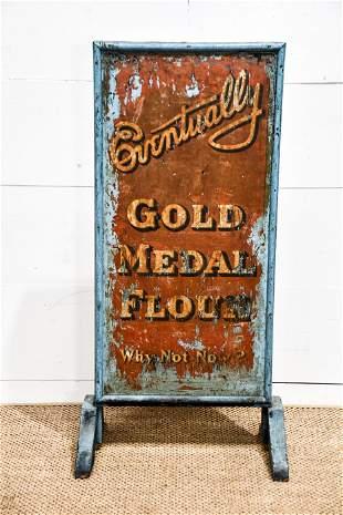 General Store Broom Display advertising Gold Medal