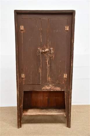 """Painted Two Door Cupboard w/ Shelf 78""""H, 36"""" x 14"""""""